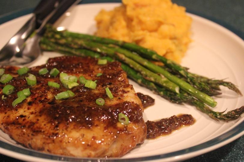 Maple & Mustard Glazed Pork Chops | LauraLovingLife