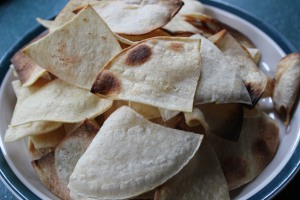 Baked tortilla chips (no salt)