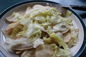 top with shredded lettuce