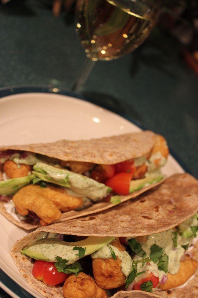 Tacos de pescado with a cilantro lime aioli lauralovinglife for Wegmans fish fry
