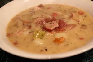 ham soup bowl